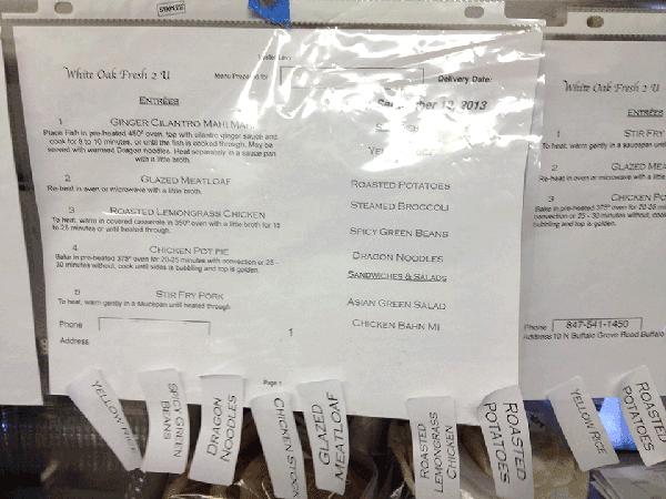 Original White Oak Order Fulfillment Sheet