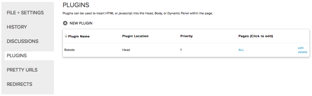 Updated Plugin table on Axshare team project